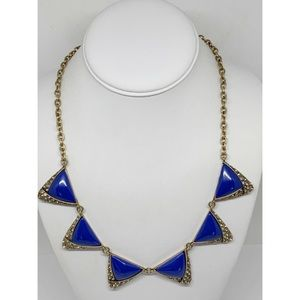 J. Crew Blue With Crystals Necklace
